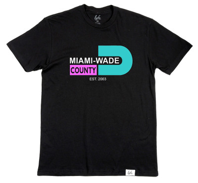 "Lyfe Brand Miami-Wade County ""SOBE"" white men's crew neck shirt"