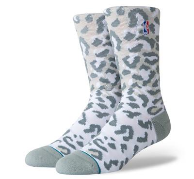 Stance NBA Logoman Leopard Socks (Grey)