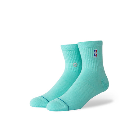 Stance NBA Logoman QTR Mint Socks