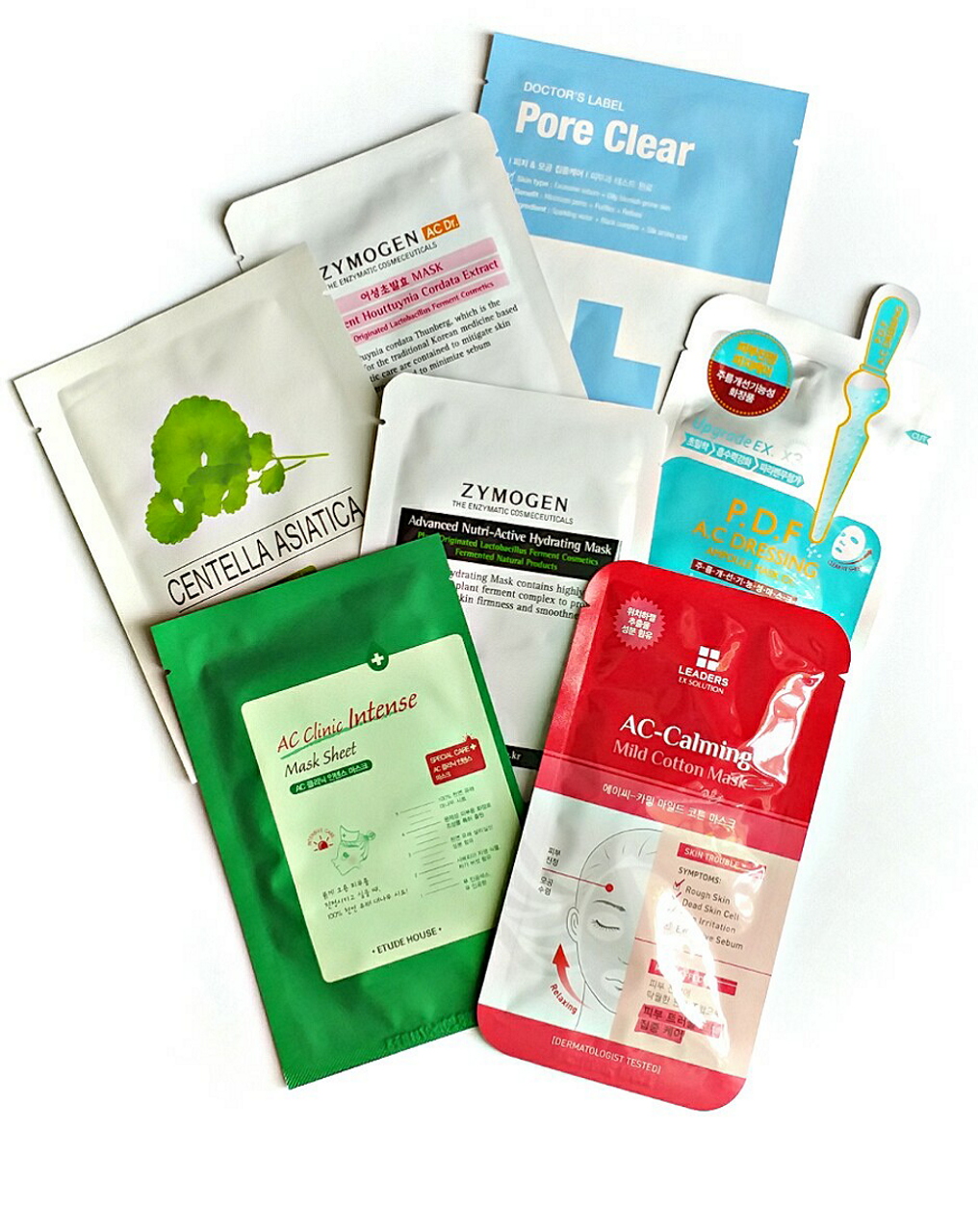 Face Mask for Acne Prone Skin Collection ( 7 Sheet Masks )