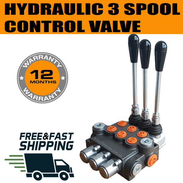 Three Spool Direction Control Valve