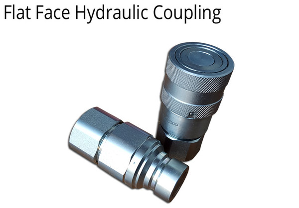 """HYDRAULIC COUPLING 1/2"""" BSPP THREADS FLAT FACE - 2 SETS"""