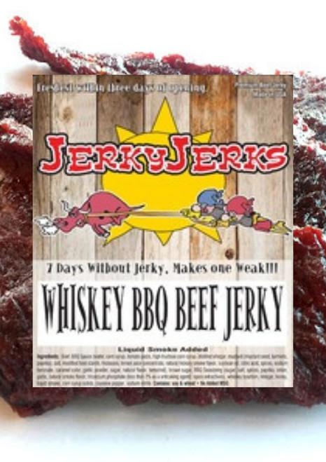 JerkyJerks Whiskey BBQ  Beef Jerky