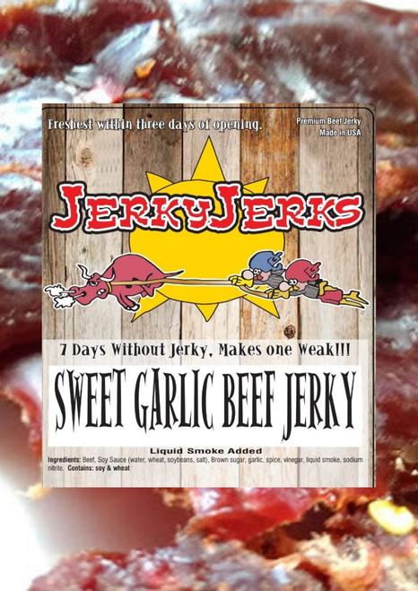 Sweet Garlic Beef Jerky Jerks