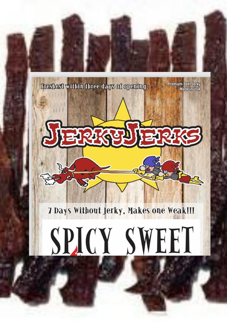 Spicy Sweet Steak Cut Jerky Jerks 8oz