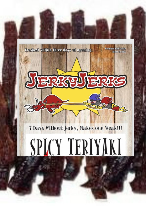 Spicy Teriyaki Jerky Jerks 8oz