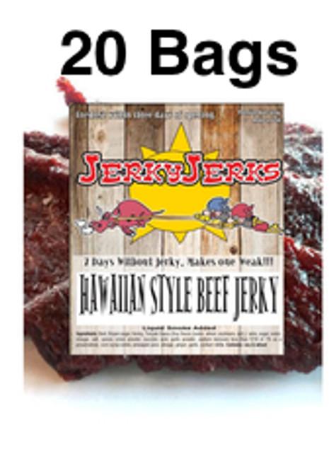 Hawaiian Style Premium Beef JerkyJerks Full Case 20 Bags