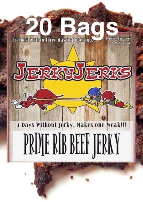 Prime Rib Premium JerkyJerks Full Case 20 Bags