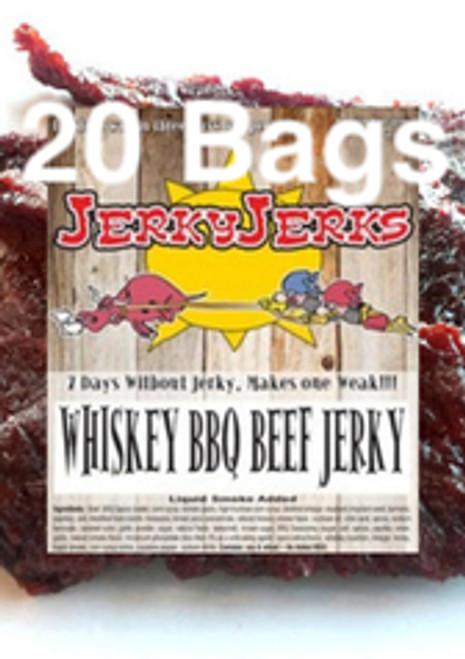 Whiskey BBQ Premium Beef JerkyJerks Full Case 20 Bags
