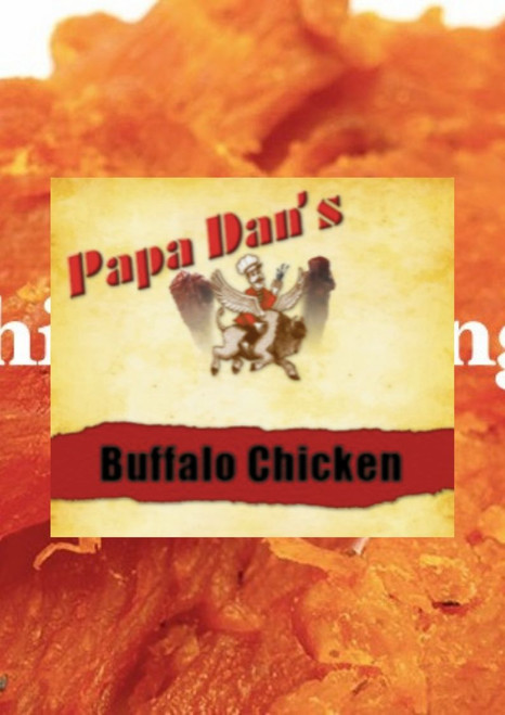Papa Dan's Buffalo Chicken Wing jerky is made with only the finest Breast Meat available. Thick cut with an Amazing Buffalo Wing flavor. You will think you just ordered a plate of wings at your favorite Spot. This is a Very Unique a Special Flavor you won't find this one at very many places.
