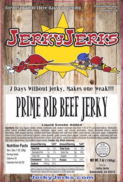 Prime Rib Jerky with Au Jus Flavor