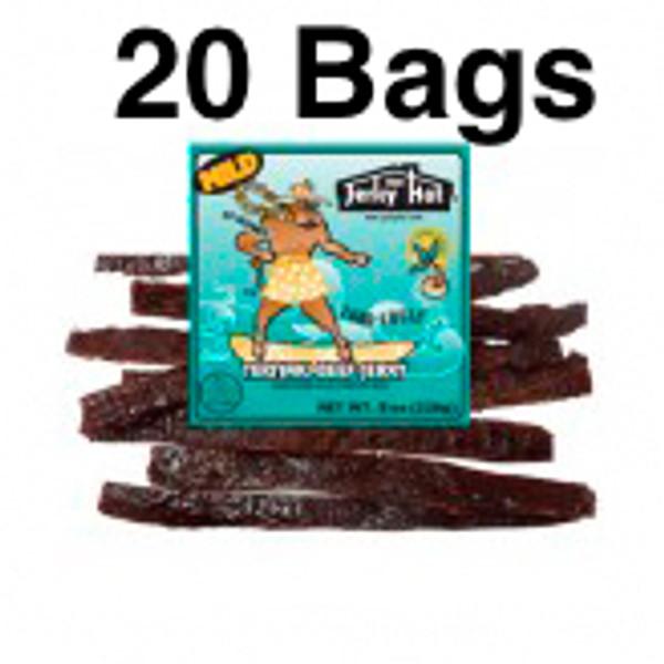 Mild Teriyaki Luau Louie Jerky Full Case 20 Bags