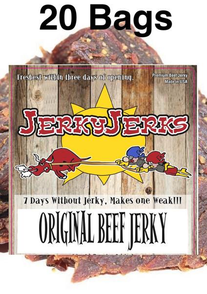 Original Thin Cut JerkyJerks Full Case 20 Bags