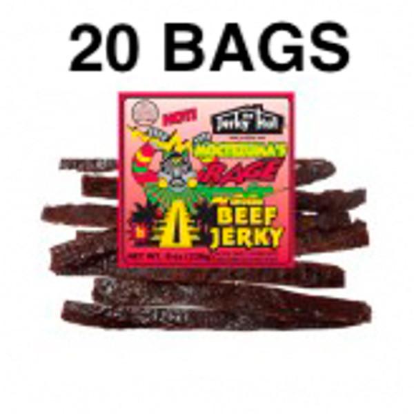 Montezuma's Rage Premium Beef Jerky Full Case 20 Bags