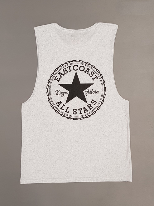 KINGPIN EASTCOAST ALL STARS SINGLET WHITE MARLE/ BLACK