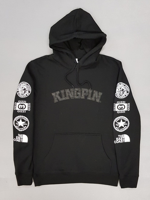 KINGPIN ICON HOOD BLACK / WHITE /  CHARCOAL