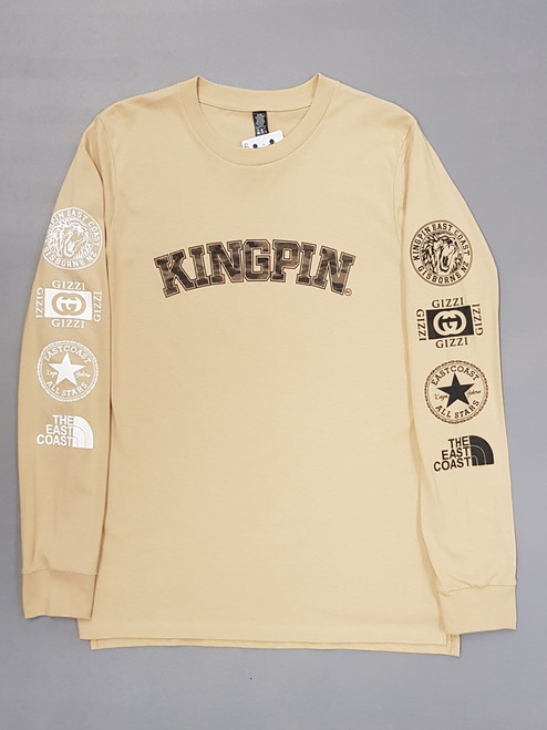 KINGPIN CURVE ICON L/S TAN / BLACK / WHITE