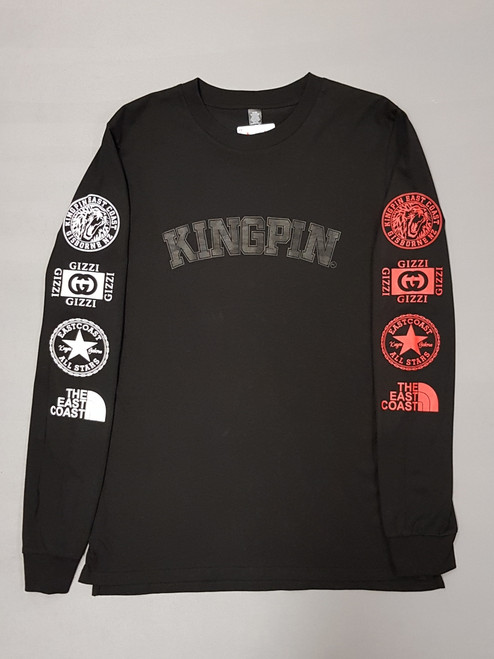 KINGPIN CURVE ICON L/S BLACK / WHITE / RED