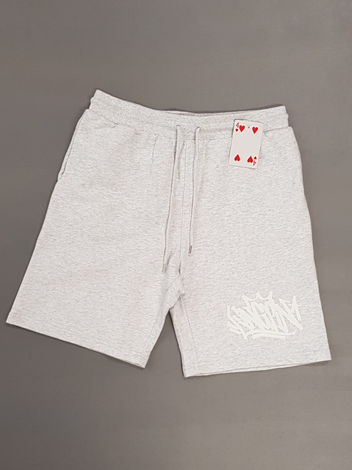 KINGPIN TAG SHORT LIGHT GREY  / WHITE