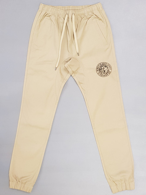 KINGPIN IRON LION CUFF PANT TAN / BLACK / WHITE
