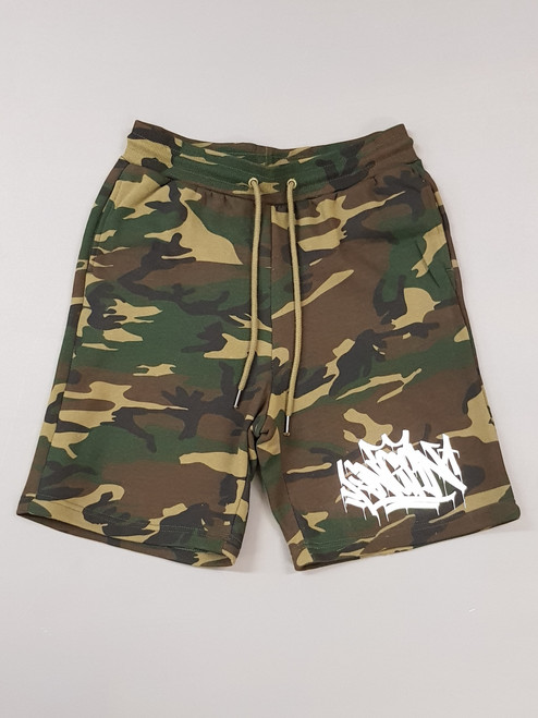 KINGPIN TAG SHORT CAMO / WHITE