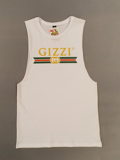 KINGPIN GIZZI SINGLET WHITE / GREEN / GOLD / RED
