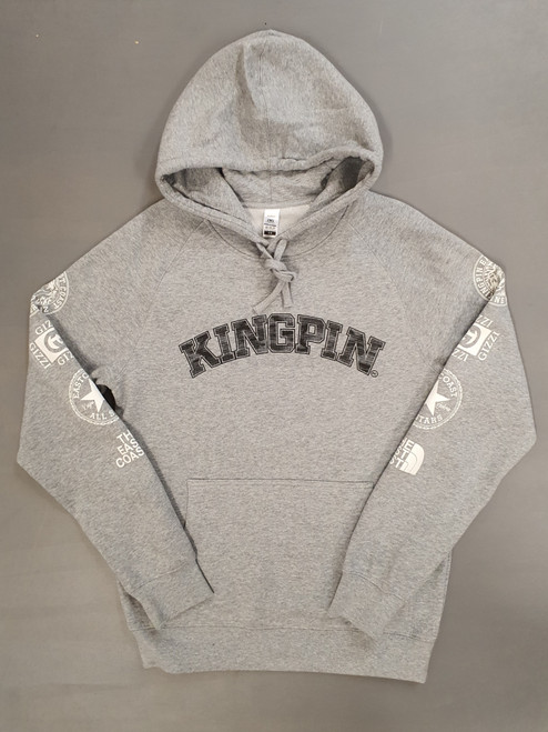 KINGPIN ICON HOOD GREY / BLACK / WHITE