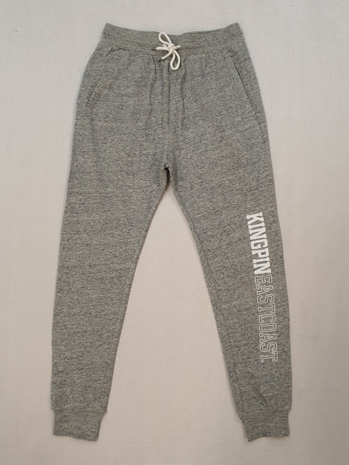 KINGPIN TRACKPANT GREY MARLE / WHITE