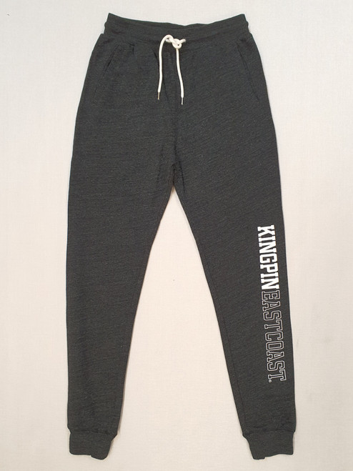 KINGPIN TRACKPANT BLACK MARLE / WHITE