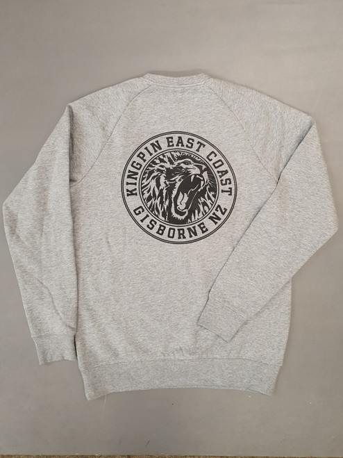 KINGPIN IRON LION CREW GREY / WHITE / BLACK