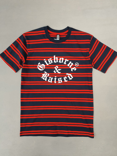 KINGPIN GISBORNE & RAISED TEE RED / NAVY / WHITE