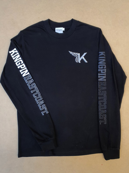 KINGPIN FLY THREADS L/S TEE BLACK / WHITE