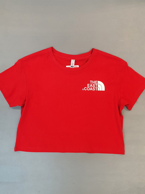 KINGPIN  THE EAST COAST CROP TEE RED / WHITE