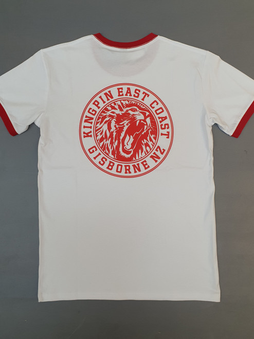 KINGPIN IRON LION TEE WHITE / RED