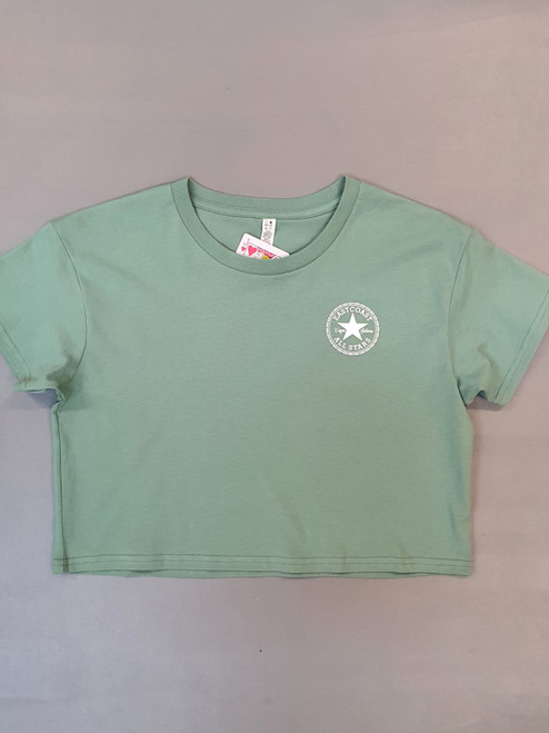 KINGPIN EASTCOAST ALL STARS CROP TEE TEAL / WHITE