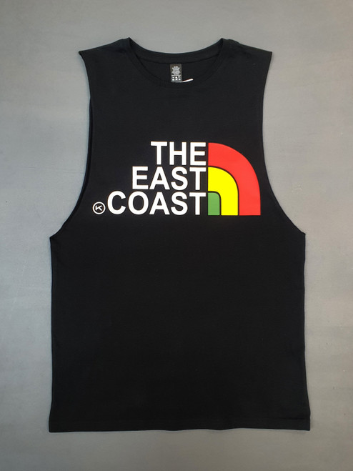 KINGPIN THE EAST COAST SINGLET BLACK / RASTA