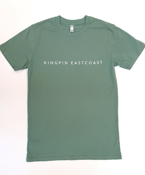 KINGPIN EASTCOAST TEE SAGE / WHITE