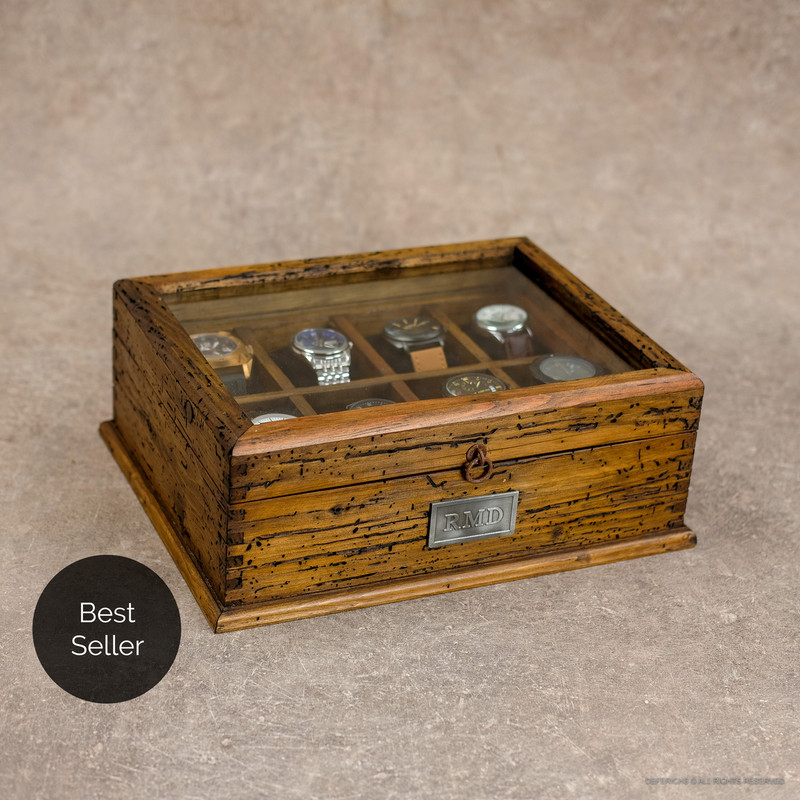 Watch Box for 8 Watches with secret compartment