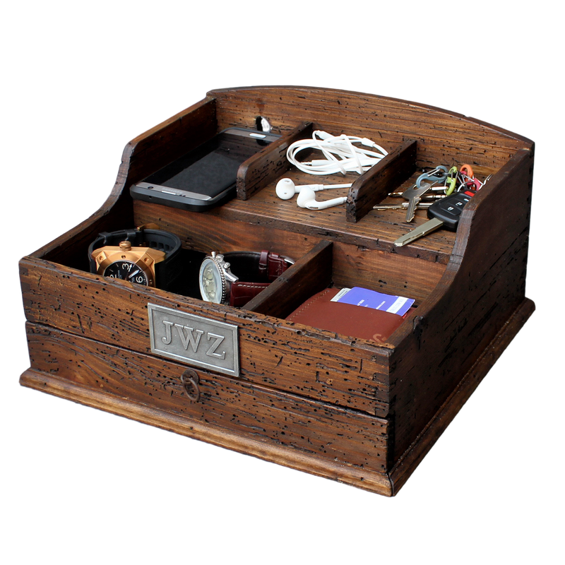 Men's Valet Box with charging station