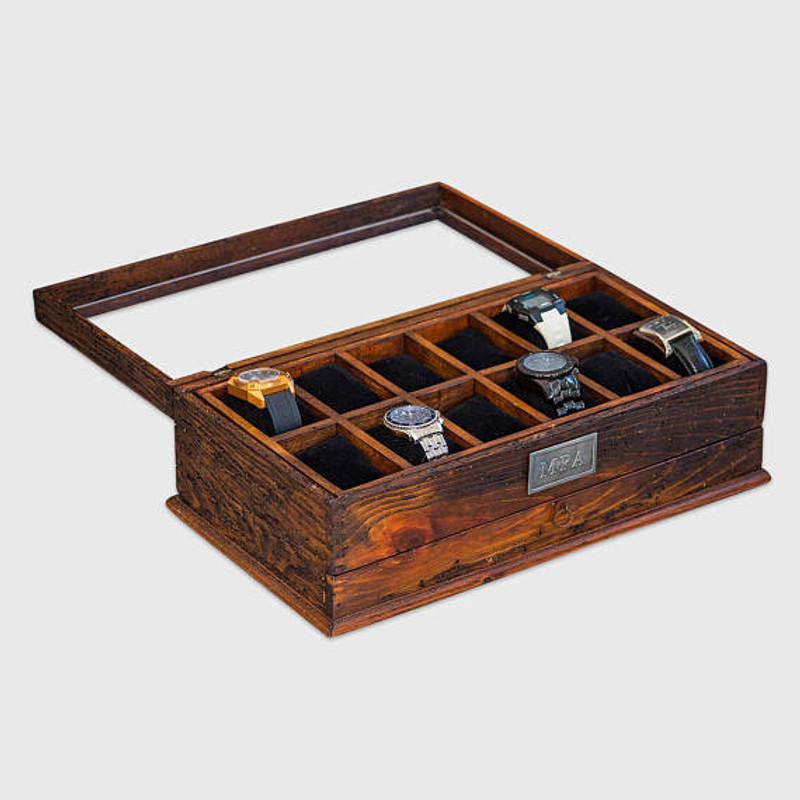 Glass Watch Box With Drawer No. 12