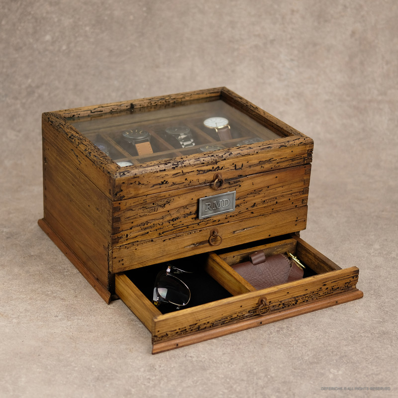 Watch Box with Double Drawer N.8