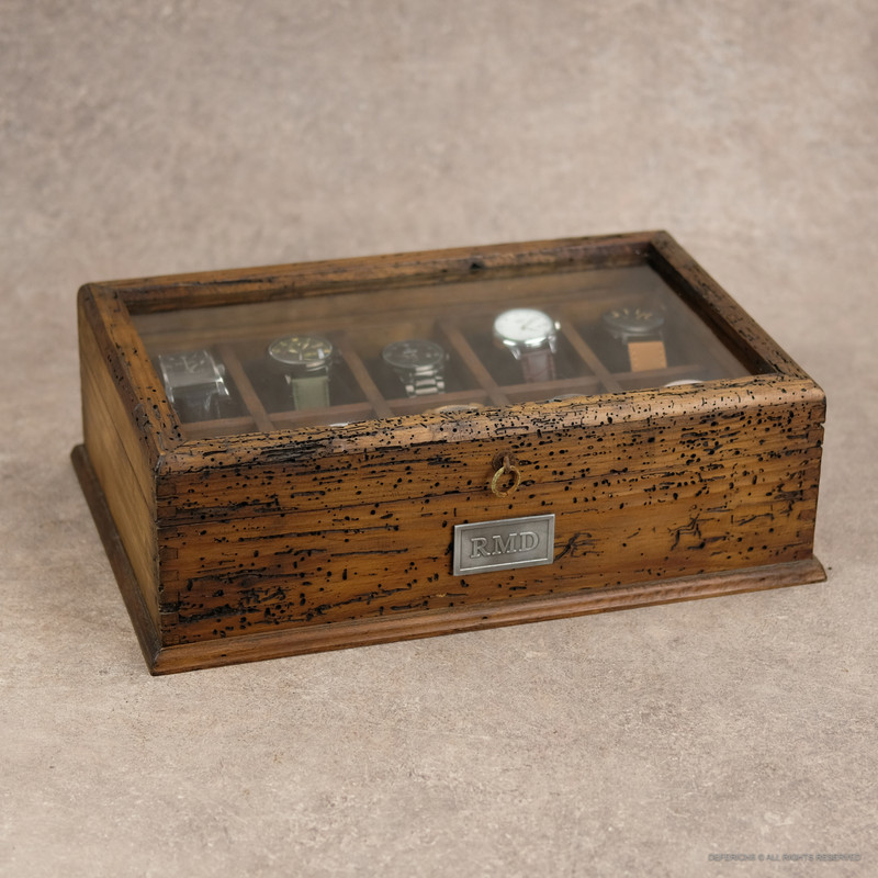 Watch Box with Secret Compartment