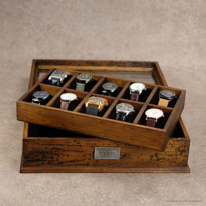 Watch Box N.10 with secret compartment.