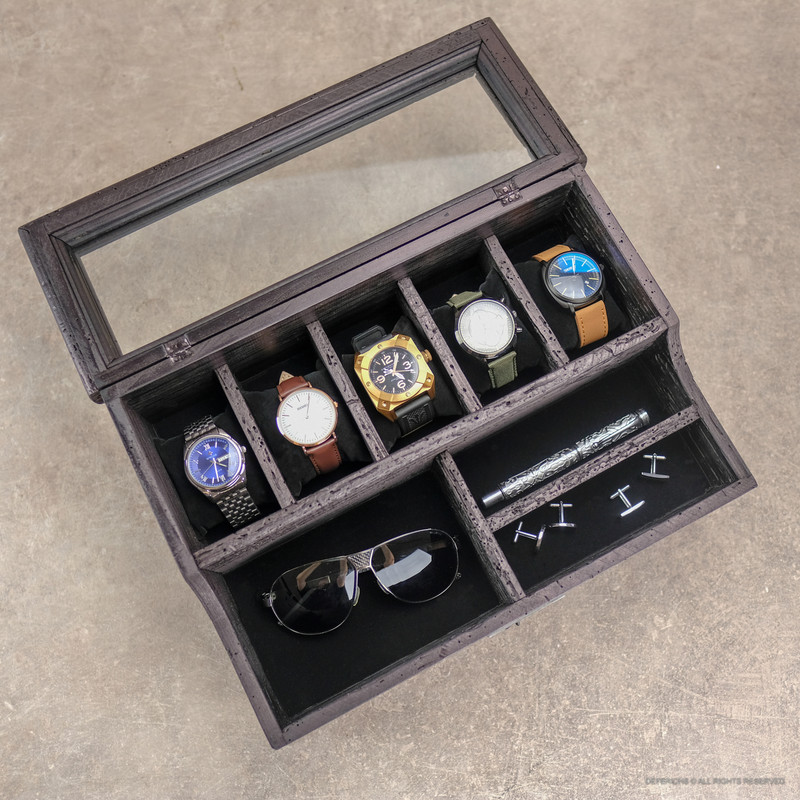 Valet Box with Drawer N.5 -Black Edition