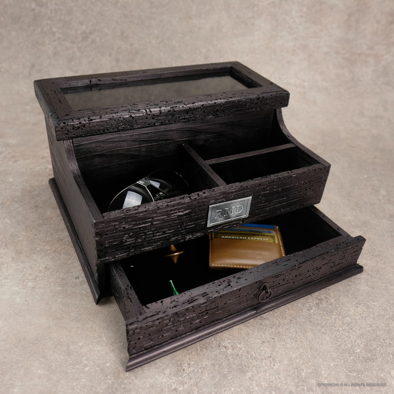 Valet Box with Drawer N.4 -Black Edition