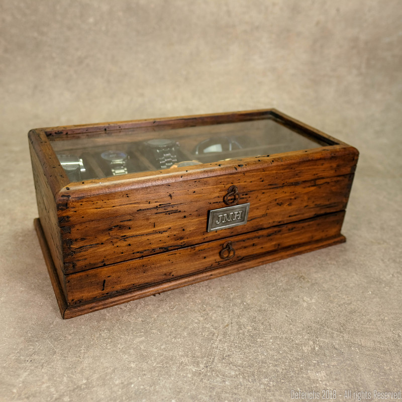 Watch Box and Sunglasses with Drawer No. 6-3