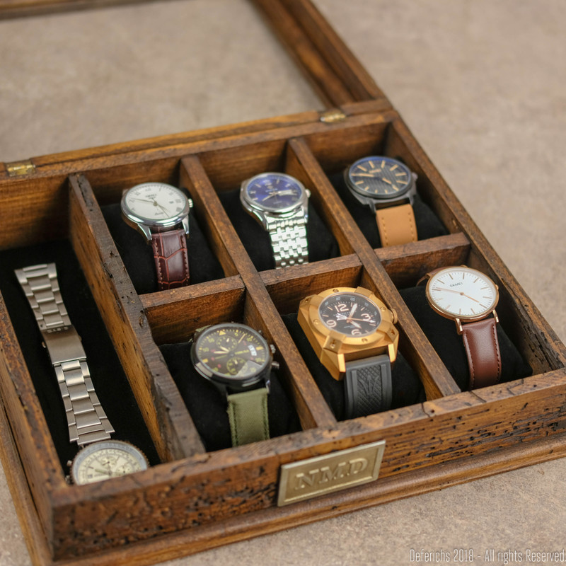 Watch Box with Strap Compartment N.6
