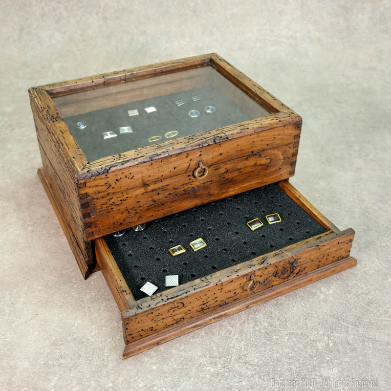 Men's Cufflink Box with drawer