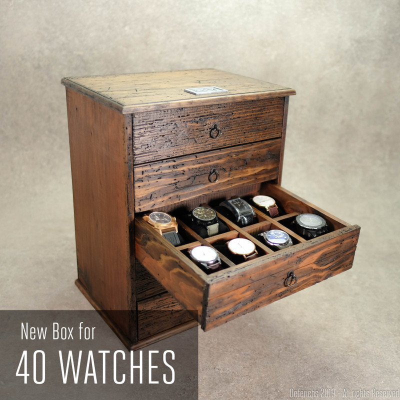 Mega Watch Box for 40 Watches