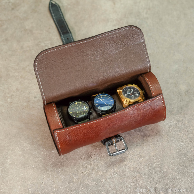 Leather Watch Roll for 3 Watches - Special Edition